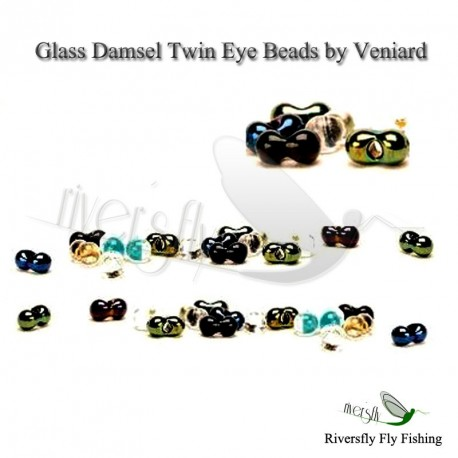 Glass Damsel Twin Eye Beads