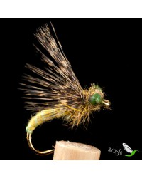 Insect Green wool wiht Eyes Wet Fly