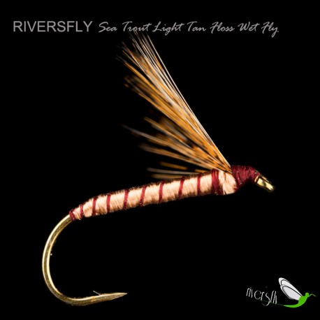 Sea Trout Light Tan Floss Wet Fly