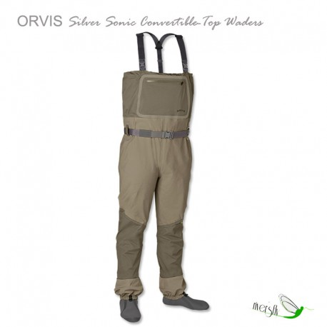 Silver Sonic Convertible-Top Waders by Orvis