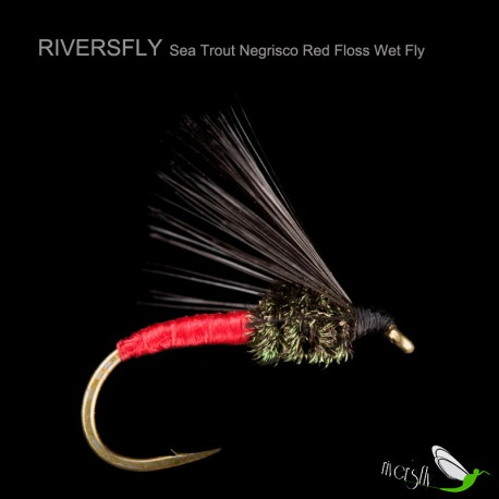Sea Trout Negrisco Red Floss Wet Fly
