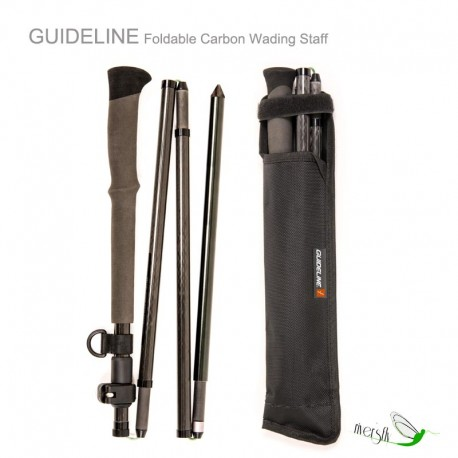 Foldable Carbon Wading Staff by Guideline