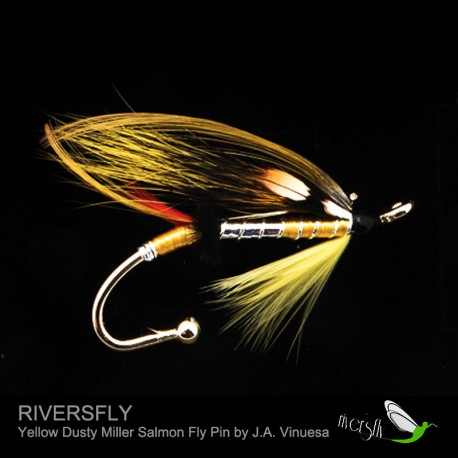 Dusty Miller Variant Salmon Fly Pin